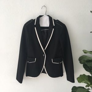 Zara blazer with white trim